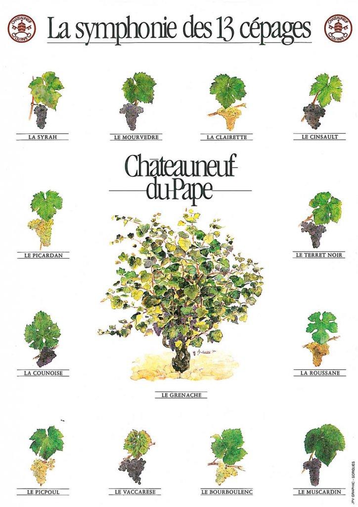 symphonie des 13 cepages chateauneuf du pape
